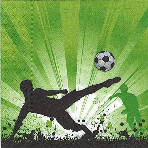 20 Servietten Fußball Euphorie / Kinder / Kindergeburtstag / EM / WM 33x33cm