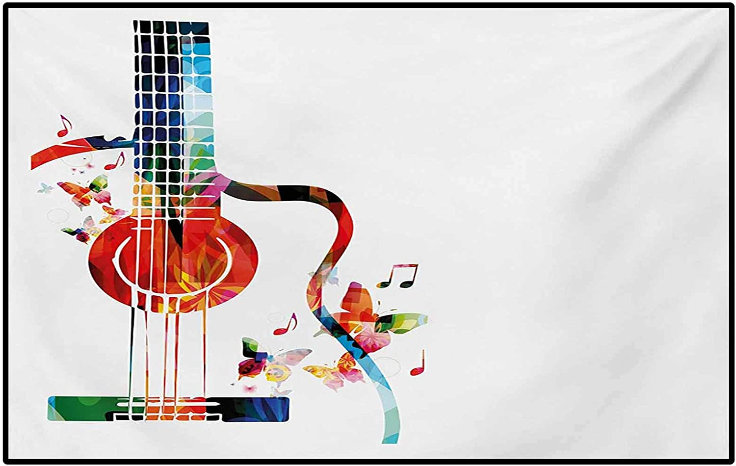 Guitar Throw New York Mall Rugs Bath Poly Sale price Colorful Bathroom for