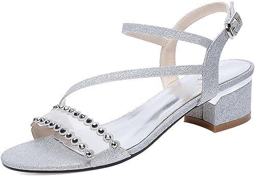 GTVERNH-Chaussures pour Femmes Une Paire De Pieds des Sandales été des Talons Et Rome des Chaussures De Femme.