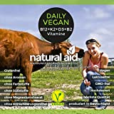 Daily Vegan - Vitamin B12+K2+D3+B2 Komplex - 120 Kapseln (4 Monats-Vorrat)