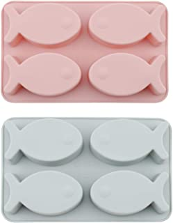 Chocolate Mold, Chokov 2pcs Fish Mold Silicone Baking Mold For Candy Chocolate Sugarcraft Cookies Soap Cake Decorations
