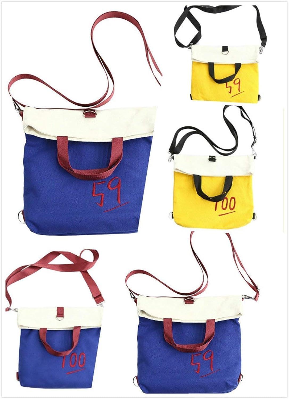 OIBHFO HOME Personality Backpacks Fashionable Student Handbag Schoolbag Multifunctional Leisure Toursim Backpack (color   Yellow)