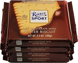Ritter Sport Schokolade (Pack of 4) - Butter Biscuit