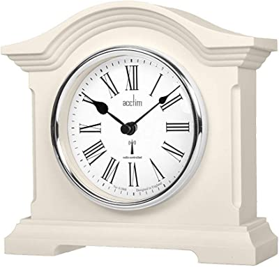 Acctim Chestfield Classic Mantel Clock in Cream Fireplace