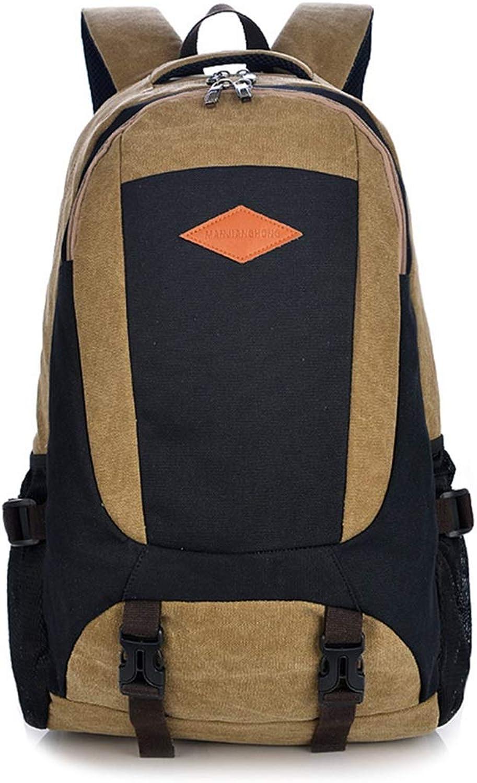 Sakuldes Multifunktionale Reisetasche Schultertasche mit großem Fassungsvermögen Canvas Canvas Retro Rucksack (Farbe   Khaki) B07MNJC16K