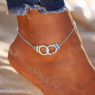 Simsly Beach Love Cavigliera in argento per donne e ragazze