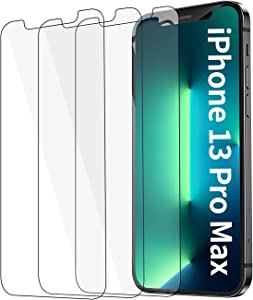 [3 Pack] for iPhone 13 Pro Max Screen Protector Tempered Glass [HD Clear] [Bubble-Free] [Anti-Scratch] [Case Friendly] for iPhone 13 Pro Max 5G (6.7 inch 2021) Clear