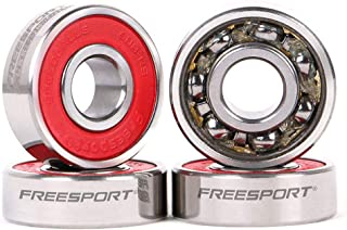 TwoLions Full Steel Pre-Lubricated 608 Bearings (Pack of 8) for Skateboards Longboards Inline Roller Skate or Scooters