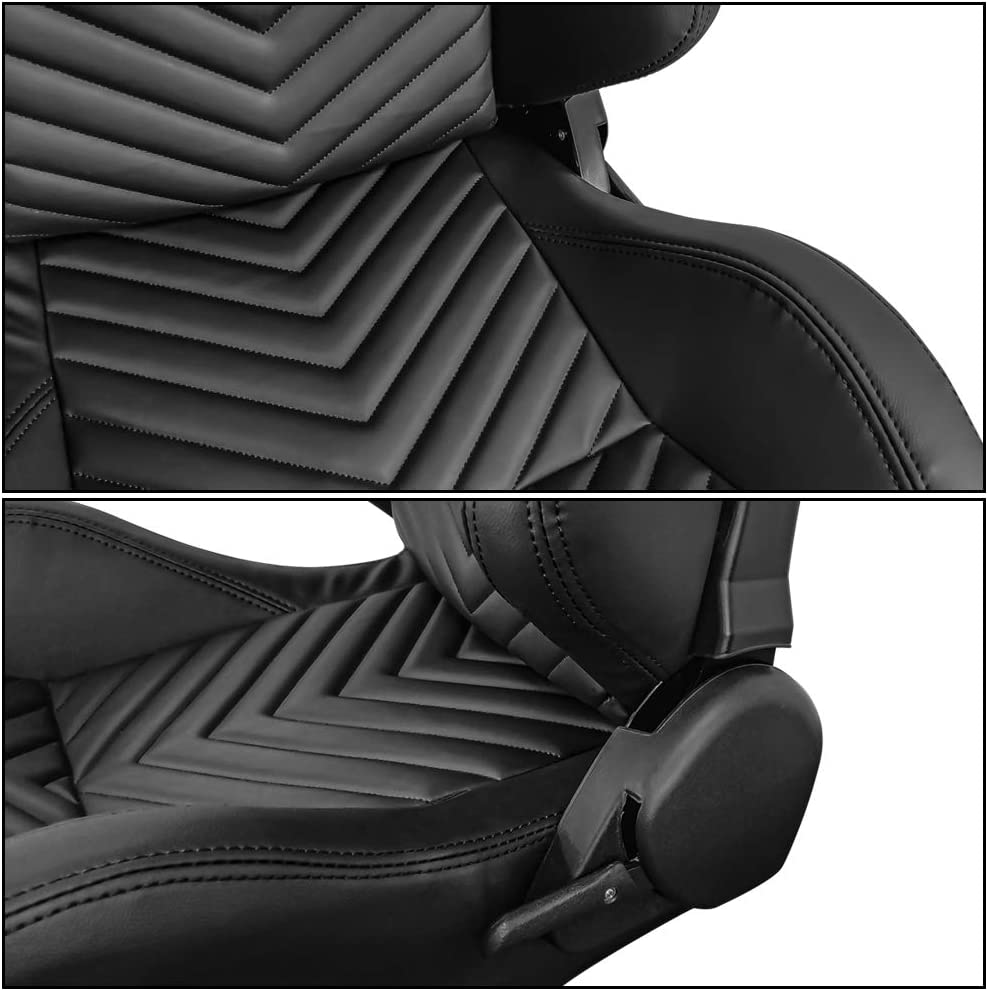 PU & Carbon Leather with Blue Stripe Reclinable Left Right IKON ...