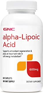 GNC Alpha-Lipoic Acid 600mg, 60 Caplets, Supports Antioxidant Regeneration and Cell Energy Metabolism