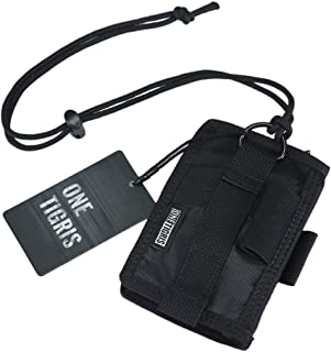 OneTigris ID Card Holder, Credit Card Organizer Neck Lanyard Key Ring Wallet Tactical Badge Holder