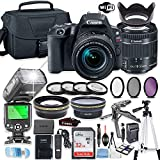 Canon EOS Rebel SL2 DSLR Camera Bundle with Canon EF-S 18-55mm STM Lens + 32GB Sandisk Memory + Camera Case + TTL Flash + Accessory Bundle