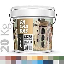 PINTURA FACHADAS ANTIMOHO, Repelente al agua, impermeable y antifisuras. (20KG, BLANCO)