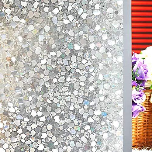 LMKJ Fensterfolie für Buntglas-Fenster, 3D, statischer Kristallstein, matt, selbstklebend, PVC-Folie, Vinyl-Glasaufkleber, A08, 60 x 200 cm