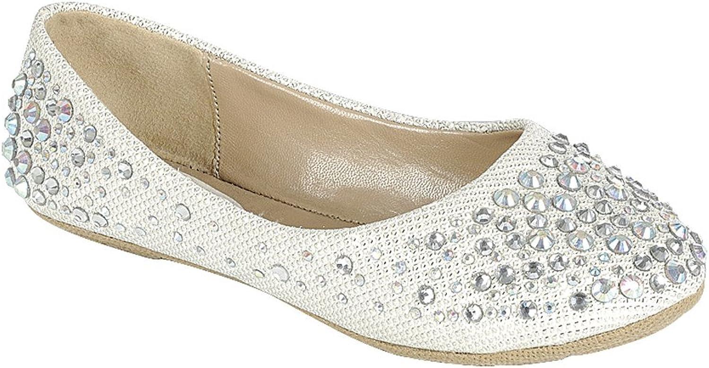Larisa Kids Loafer Slip Rhinestone Fashion Glitter Ballet Flats shoes