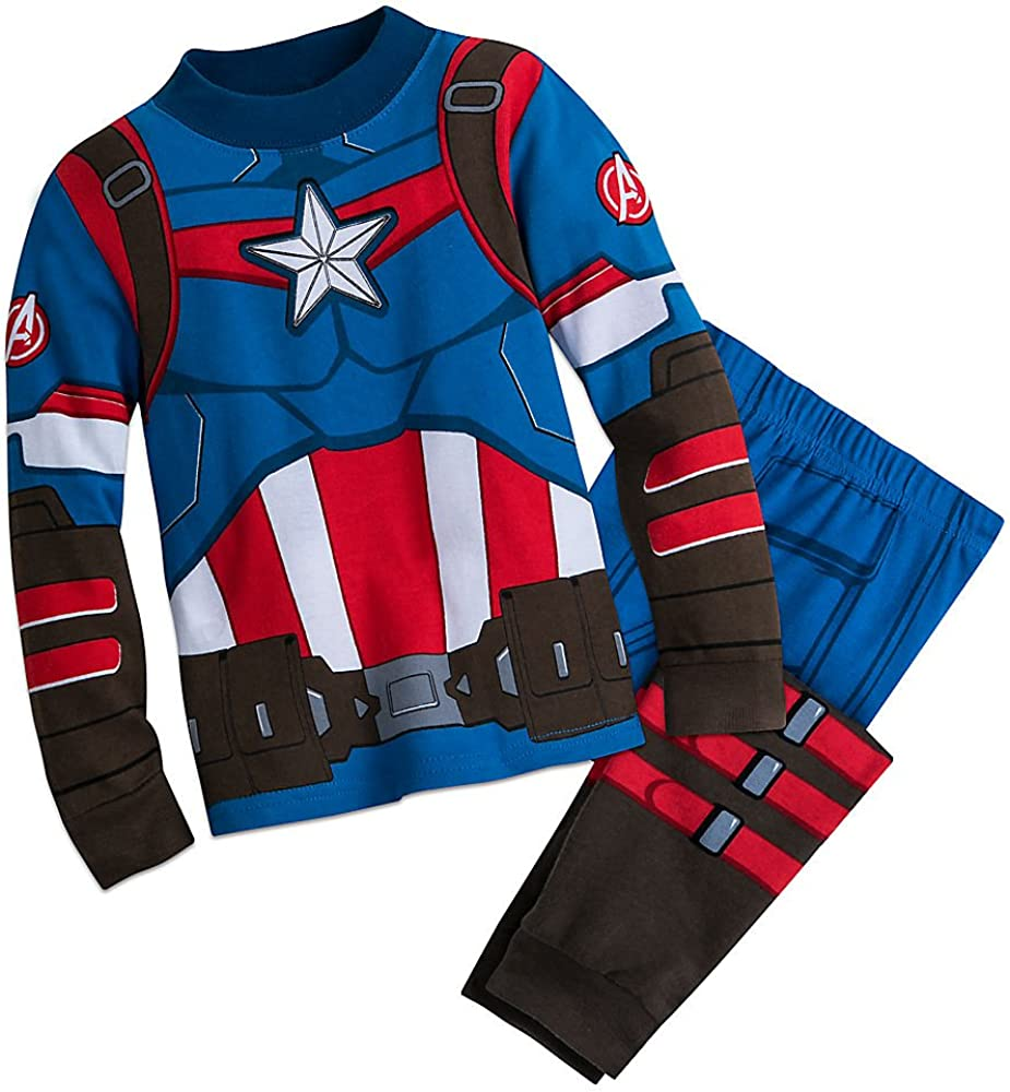 Marvel Captain America Costume Deluxe PJ Pajamas Boys Seattle Mall PALS for