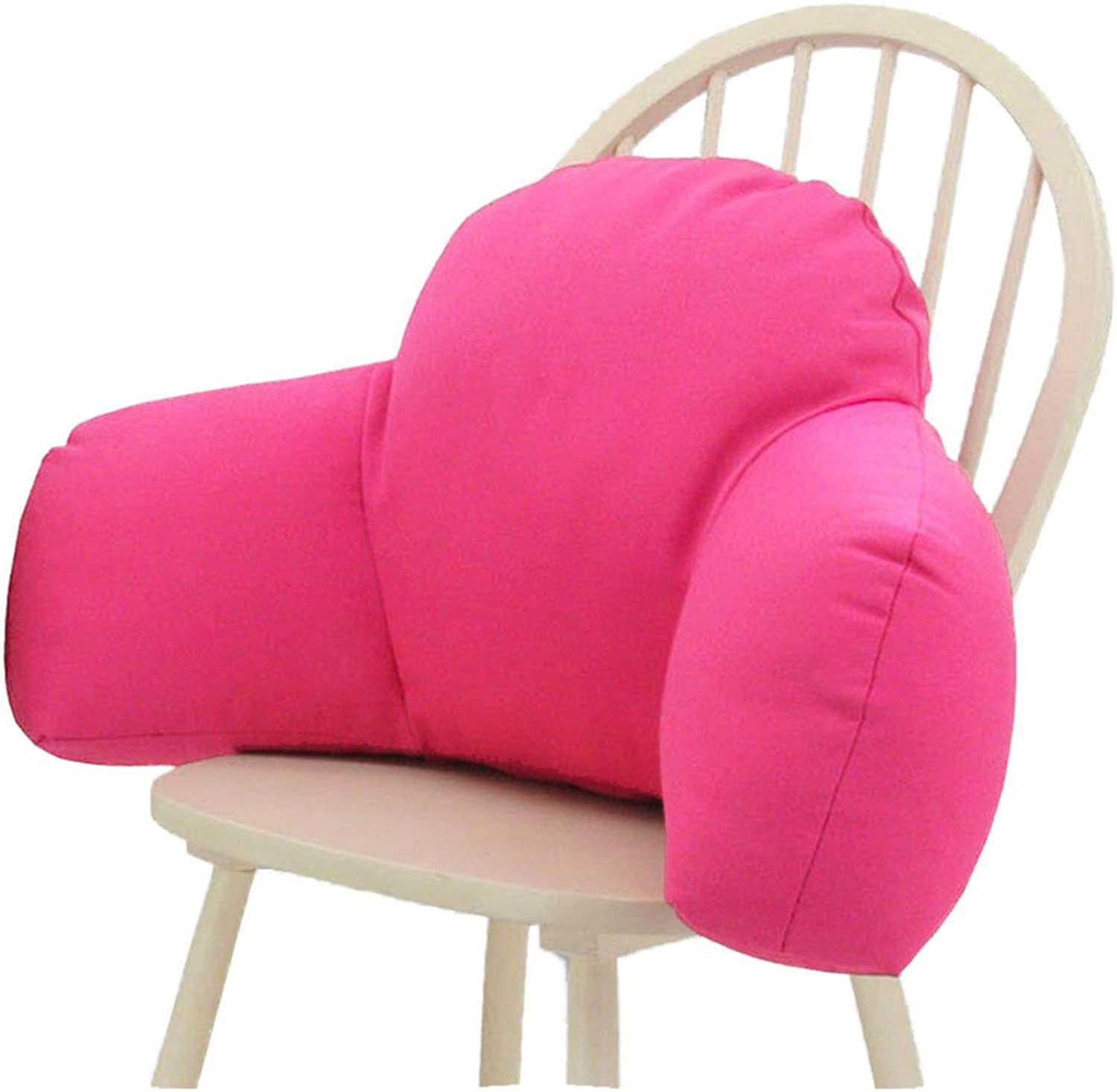 Cushion Office Seat Belt Cushion, Living Room Sofa Waist Pillow Chair Backrest Pad, Headboard Pillow Washable Three-Stage Cushion (color   pink Red, Size   M(603219CM))