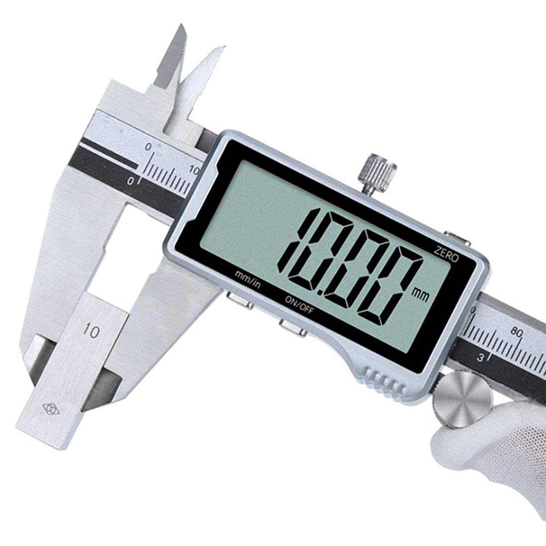 採用する算術美徳ステンレス鋼製デジタルノギス、ツール、工業用グレードの高精度測定の300mm / 0-12Inchノギスインチ/メトリック変換深度計