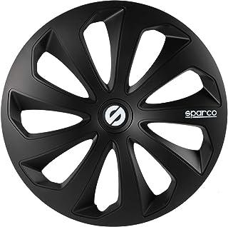 comprar comparacion SPARCO SPC1670BK Tapacubos Sicilia, Negro, Set de 4, 16
