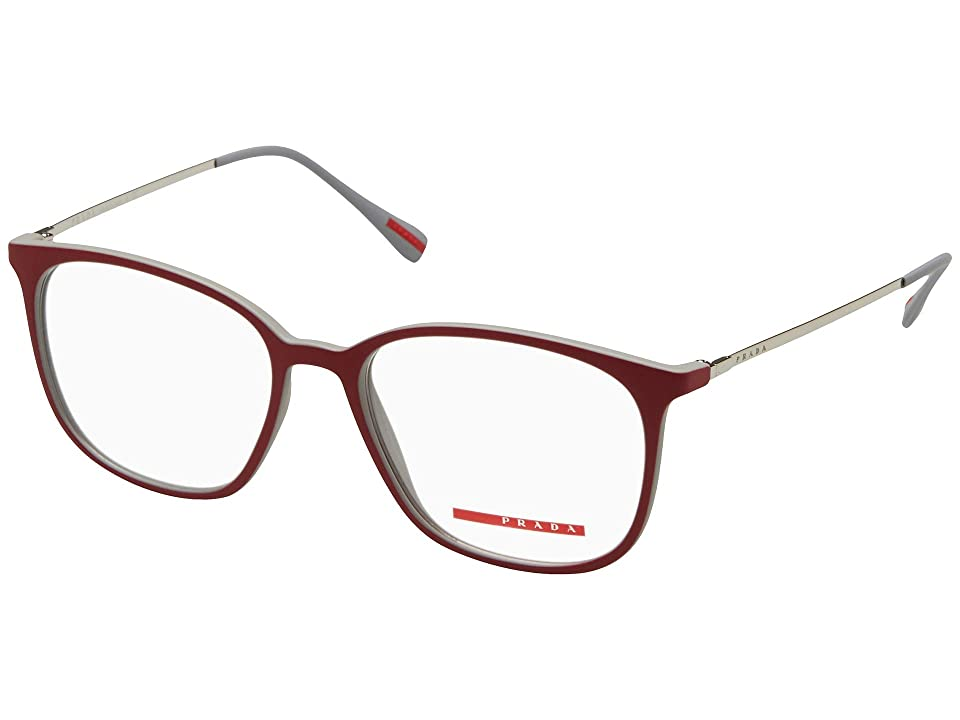 30917d6587b48f Prada 0PS 03IV (Top Red Grey Rubber) Fashion Sunglasses