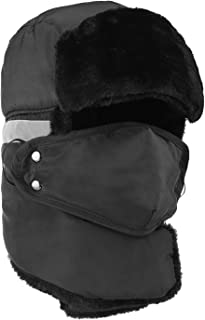 FENDIS Winter Trooper Trapper Hat with Ear Flaps,Ushanka Hunting Hat for Men & Women,Windproof Mask.