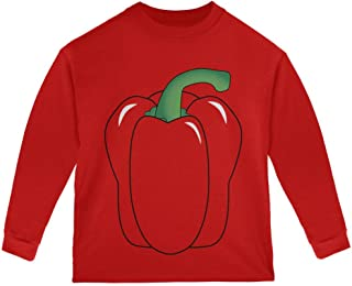 Halloween Fruit Vegetable Bell Pepper Costume Toddler Long Sleeve T Shirt