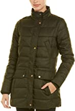 Barbour Womens Goldfinch Quilted Coat, 18, Green