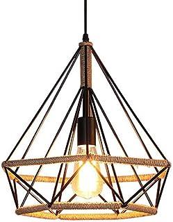 Retro industriële henneptouw kroonluchter ijzer hennep touw hanger plafond hanglamp kaars design binnenverlichting woonkam...