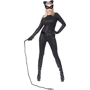 WIDMANN Disfraz de Catwoman Negro para Mujer S: Amazon.es ...