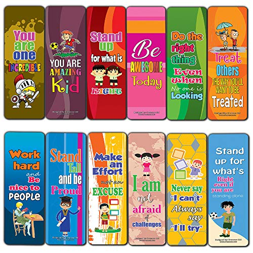 Incredible Kids Bookmarks (12-Pack) - Great Books Reading Rewards Incentives for Kids Boys Girls Teacher Classroom Supplies