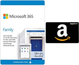Microsoft 365 Family 12 month auto-renewing subscription with $40 Amazon Gift Card