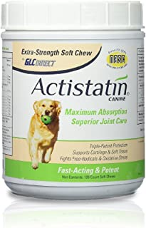 Actistatin Canine - Patented Extra-Strength Joint, Cartilage, Soft Tissue Supplement: Glucosamine, Chondroitin, Manganese, MSM, L-Carnitine - High Absorption, Fast Results