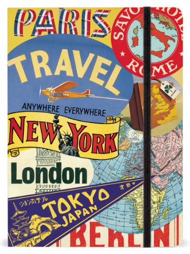 Cavallini & Co. Travel Large Lined Notebook