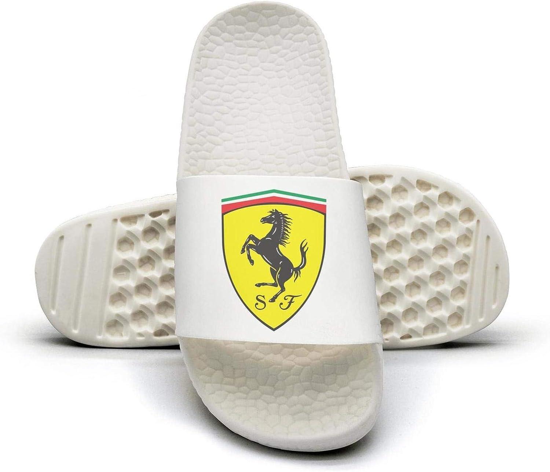 EIGKASL Printed Non-Slip Slipper Slide flip Flop Sandals Ferrari-Emblem-Symbol-Logo-Horse-Summer Casual for Womens