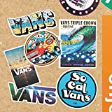 M Vans Skateboard-Aufkleber – Vans Sticker – Vinyl Matte Sticker – Surfs Up Thema