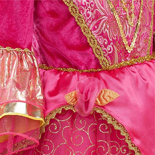 『DreamHigh 眠れる森の美女 オーロラ姫 女の子用 コスチューム ドレス 3-10歳』の5枚目の画像