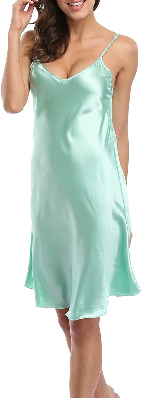 Old-to-new Women's Plus Size Lingerie Robe Sexy Spaghetti Strap Nightgown Satin Sleepwear Chemises Full Slips Nightdress