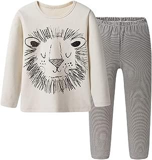 Boys Kids Soft Cotton Long Sleeve Pajamas Nightwear Sleepwear Sets Tops & Pants