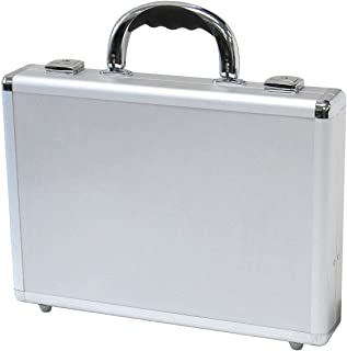 "T.Z. Case 14"" Hard-Sided Laptop Case, Slim Attache Briefcase in Silver"