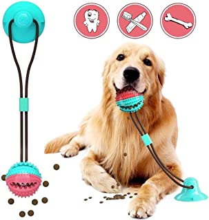 APzek Suction Cup Dog Toy, Upgraded Dog Molar Bite Toys with Suction Cup, Dog Tug of War Toy for Pulling Chewing Dispensing Teeth Cleaning
