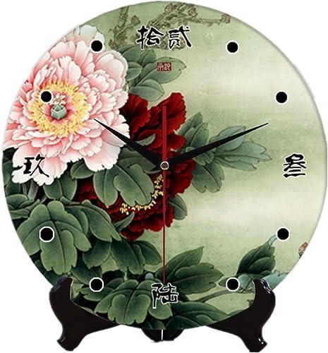 En céramique de mur de 12 pouces muet horloge Horloge horloge double usage , 4