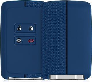 kwmobile Carcasa Compatible con Renault Llave de Coche Smart Key de 4 Botones (Solo Keyless Go) - Funda Protectora de Sili...