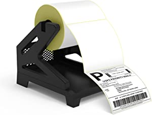 Jiose Shipping Label Holder for Rolls and Fan-fold Labels, Desktop Thermal Barcode Printer Roll Paper Holder, Suitable for Home, Office & Transportation