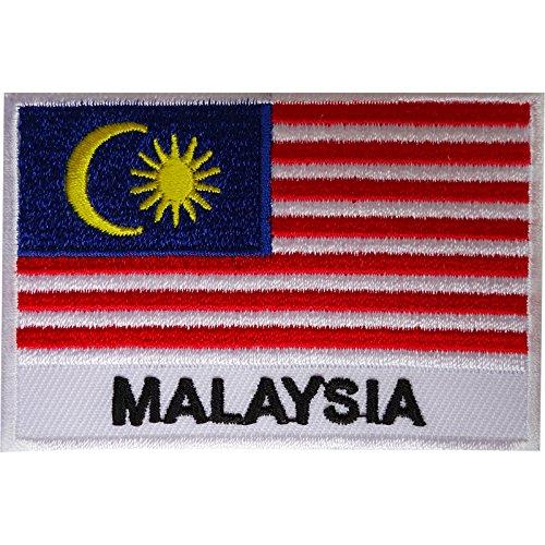 Malaysia-Flaggen-Aufnäher, bestickt, zum Aufbügeln oder Aufnähen.