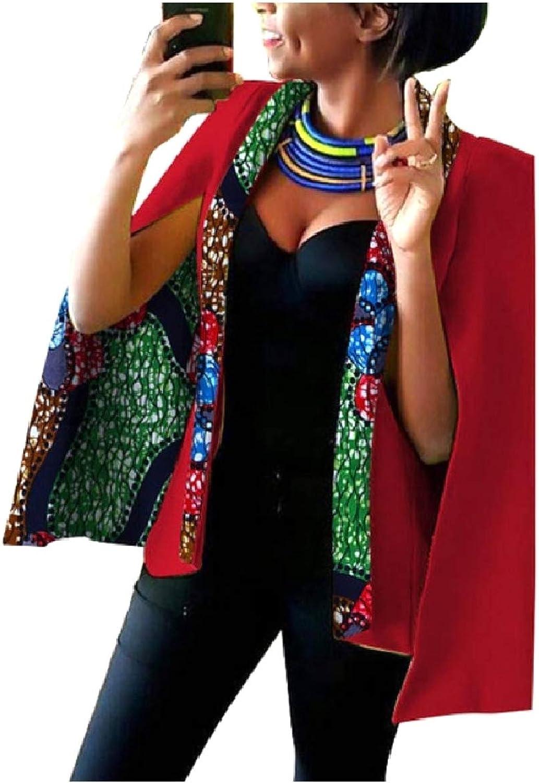 Abetteric Women's African Style Dashiki Cotton Long Sleeve Blazer Jackets