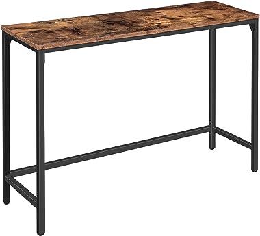 HOOBRO Console Table, Sofa Table with Adjustable Support Bar, Hallway Entrance Table for Living Room, Entryway, Corridor, Stu
