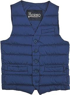 (ヘルノ) HERNO インナーダウンジレ メンズ シングルベスト ブルー系 LEGEND レジェンド 正規取扱品
