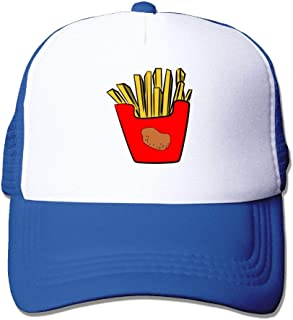 French Fries Clipart Mesh Trucker Hats for Mens Womens Adult Adjustable Baseball Caps Printed Funny Snapback