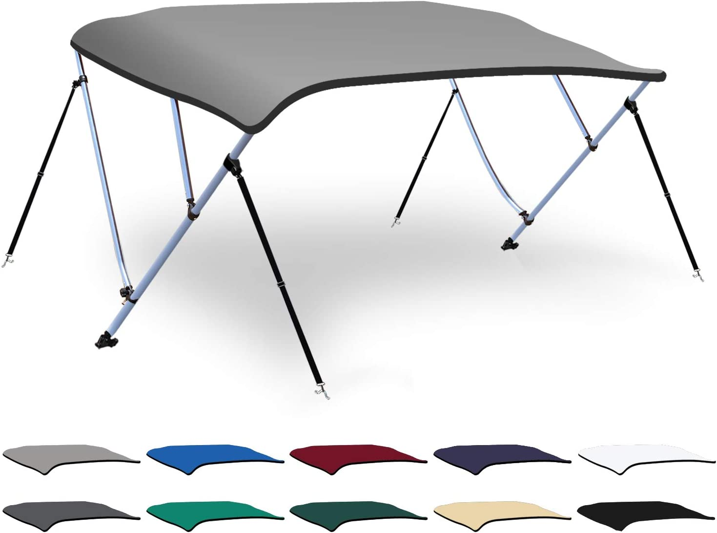 XGEAR 3-4 Bow Super Special SALE held Bimini Top Boat Cover Denver Mall 4 Mounting Hard with Straps