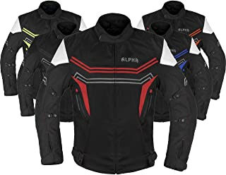 ALPHA CYCLE GEAR MOTORCYCLE ALL SEASON JACKET (RED,...